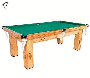 Mesa de Snooker Cerejeira com Pedra Ardósia Tecido Verde - Procópio