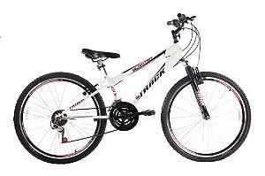 Bicicleta Blaster Aro 26 Com Suspensão Dianteira Branca - Track & Bikes