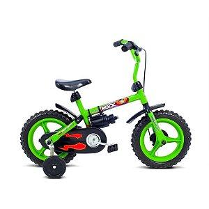 Bicicleta infantil Aro 12 Rock Verde/Preto - Verden