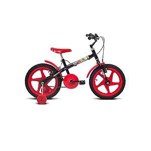 Bicicleta Aro 16 Rock Preto/Vermelho - Verden