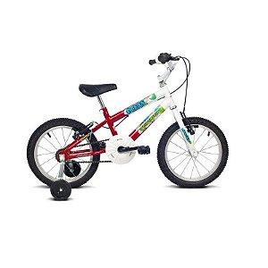 Bicicleta Infantil Aro 16 Ocean Branco/Vermelho - Verden