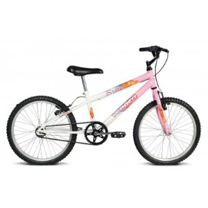 Bicicleta Aro 20 Brave Branco/Rosa - Verden