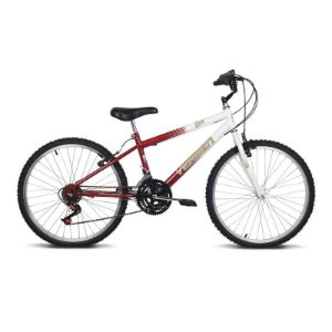 Bicicleta Aro 24 Live Vermelho/Branco 18 velocidades - Verden