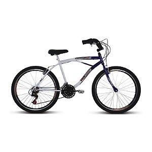 Bicicleta Aro 26 Confort 21V Azul/Branco - Verden