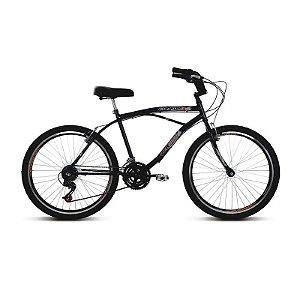 Bicicleta Aro 26 Confort 21V Preto - Verden