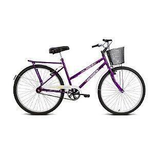 Bicicleta Aro 26 Jolie Violeta com Cesta - Verden Bikes