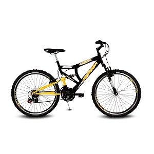 Bicicleta Aro 26 Inspire 21V Preto/Amarelo - Verden