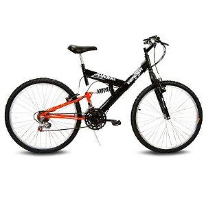 Bicicleta Aro 26 Radikale 18V Preto/Laranja - Verden