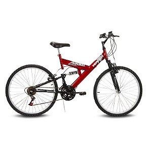 Bicicleta Aro 26 Radikale 18V Vermelho - Verden