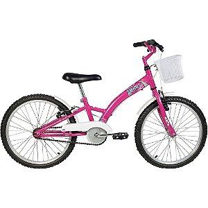 Bicicleta Aro 20 Feminina Smart Pink C/ Acessórios - Verden