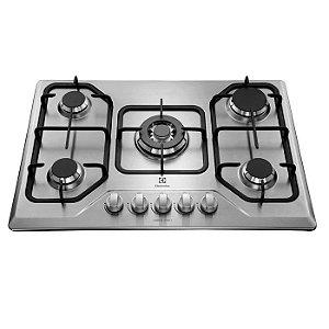 Cooktop à Gás Electrolux GT75X 5 Bocas Inox Bivolt TC