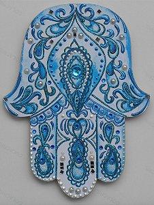 Mão de Fátima Azul Índigo