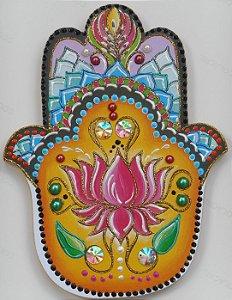Mão de Fátima Flor de Lótus