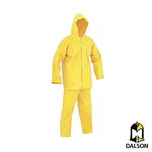 Conjunto PVC forrado amarelo impermeável