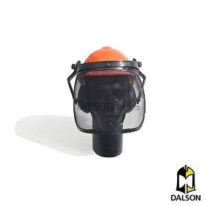 Capacete de proteção com abafador e protetor facial acoplados