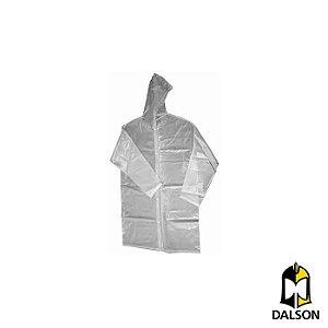 Capa de chuva com capuz transparente tamanho P