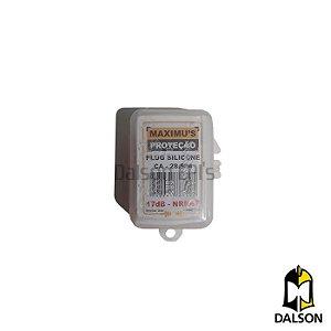 Protetor auricular tipo plug silicone - NRRsf 17dB CA 28534