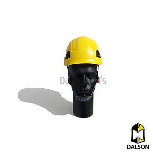 Capacete com suspensão Falcon amarelo Steelflex CA 42234