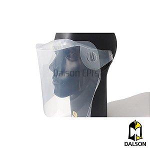 Protetor facial com elástico fino - FACE SHIELD