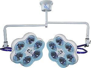 Foco Auxuliar Cirurgico de Teto 2 Cúpulas (12 Bulbos)