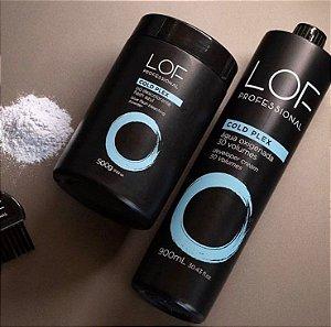 Lof Professional Kit Pó Descolorante Cold Plex e Oxidante