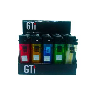 Isqueiro Descartável GTI Transparente Box C/25 Unidades