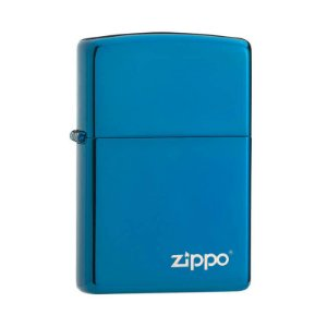 Isqueiro Zippo 20446ZL Classic Azul Safira com Logo