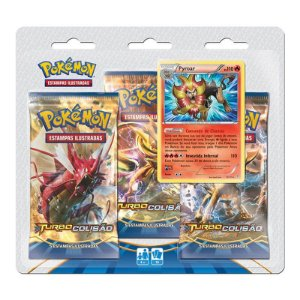 Pokémon TCG Triple Pack Pyroar - XY9 Turbo Colisão