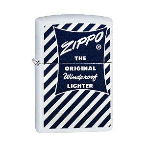Isqueiro Zippo 29413 Classic Blue & White 1958-59 Branco