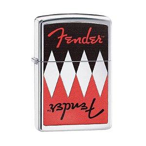 Isqueiro Zippo 29309 Classic Fender Simétrica Polido