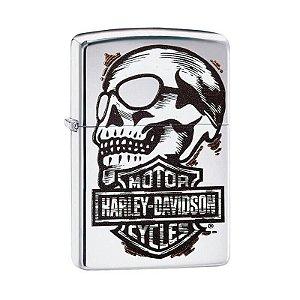 Isqueiro Zippo 29281 Harley-Davidson® Skull Polido