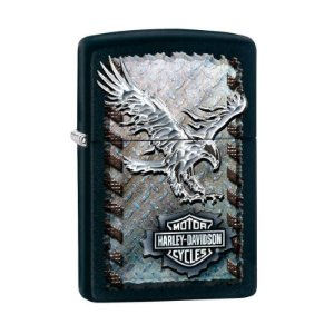 Isqueiro Zippo 28485 Harley-Davidson® Metal Eagle Preto