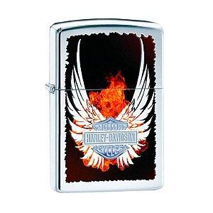 Isqueiro Zippo 28824 Harley-Davidson® Shield Wings Polido