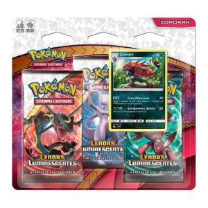 Pokémon TCG: Triple Pack SM3.5 Lendas Luminescentes - Zoroark
