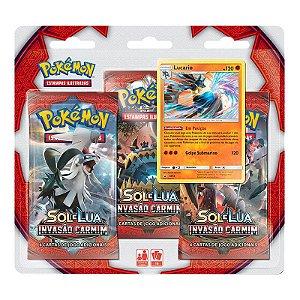 Pokémon TCG: Triple Pack SM4 Invasão Carmim - Lucario