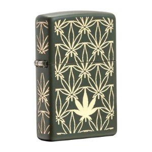 Isqueiro Zippo 29589 Classic Weed Pattern Verde