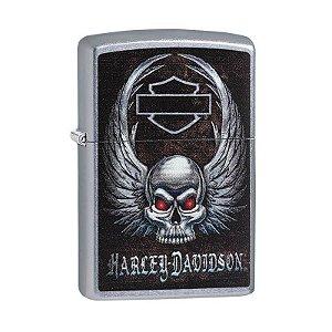 Isqueiro Zippo 29558 Harley-Davidson® Skull Wings Street
