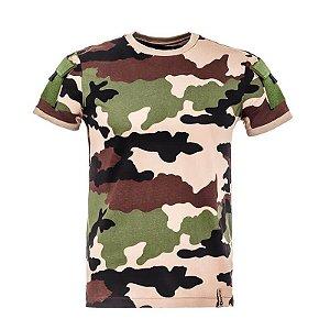Camiseta Tática Camuflada Army Francês Invictus