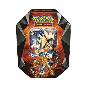Pokémon TCG: Lata Colecionável Necrozma Prisma - Necrozma Juba Crepúsculo GX