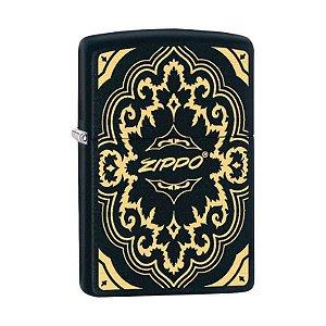 Isqueiro Zippo 29703 Classic Black & Gold Design
