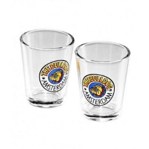 Copinho de Vidro Cristal Shot Glass The Bulldog Caixa com 2 un. - GS00300