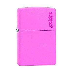 Isqueiro Zippo 238ZL Classic Rosa com Logo