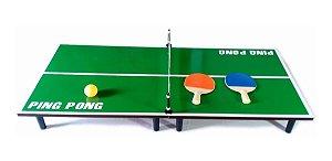 Mini Mesa De Ping Pong 90X40 Tênis De Mesa MAX-69282-39
