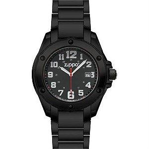 Relógio Zippo 45014 Black Face Pvd Stailess Steel Ban