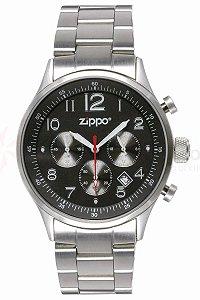 Relógio Zippo 45001 Black Face Pvd Stainless Steel Ba