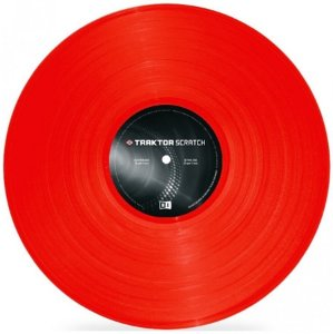Vinil Traktor Scratch Timecode MK2 Vinyl - Red