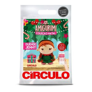Kit Amigurumi Coleção Natal Circulo Duende Jenny