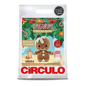 Kit Amigurumi Coleção Natal Circulo Biscoito Gengibre