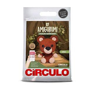 Kit Amigurumi Circulo Safari Baby Urso