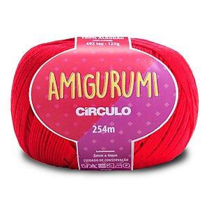 Linha Amigurumi Circulo 254m Cor Carmim 3528